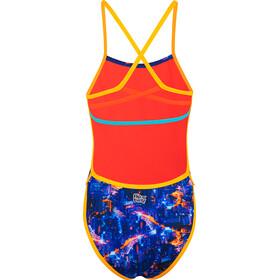 speedo Kanji Lights Swimsuit Women black/psycho red/papaya punch